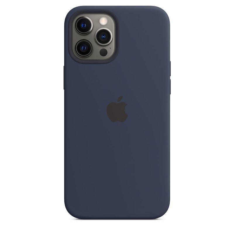 Capa para iPhone 12 Pro Max em silicone com MagSafe - Azul profundo