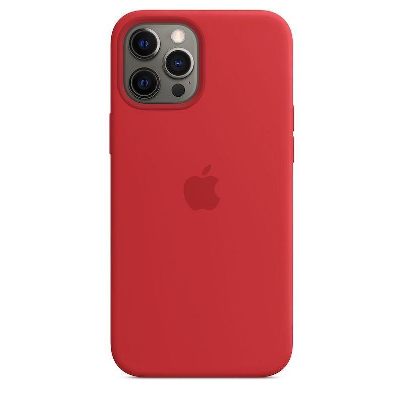 Capa para iPhone 12 Pro Max em silicone com MagSafe - Vermelha (Product)RED