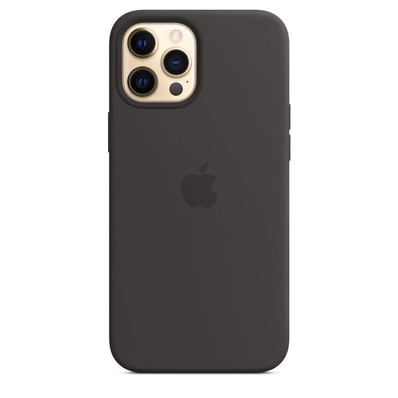 Capa para iPhone 12 Pro Max em silicone com MagSafe - Preto