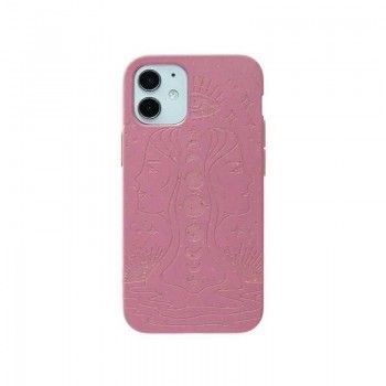 Capa para iPhone 12 mini PELA Eco Case Cassis