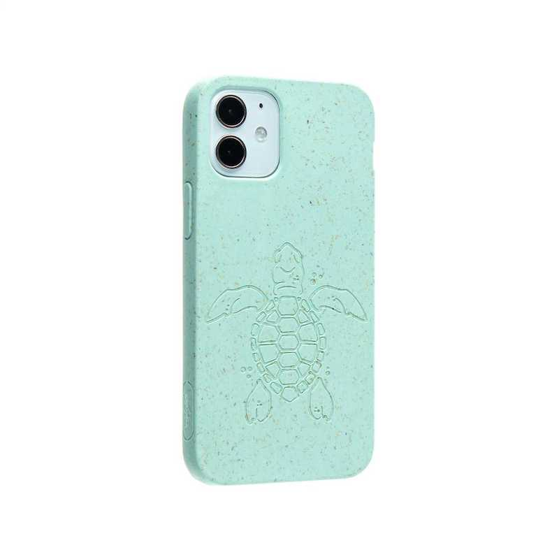 Capa para iPhone 12 mini PELA Eco Case Turtle Edition Turquoise