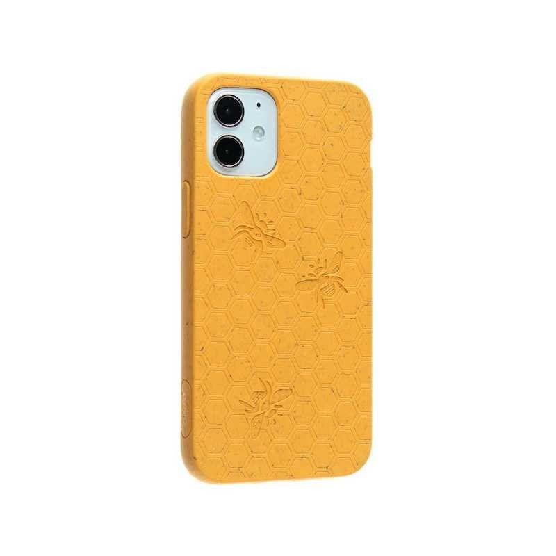 Capa para iPhone 12 mini PELA Eco Case Bee Edition Yellow