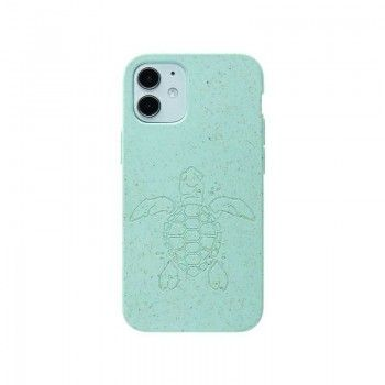 Capa para iPhone 12 mini PELA Eco Case Turtle Edition Turquoise