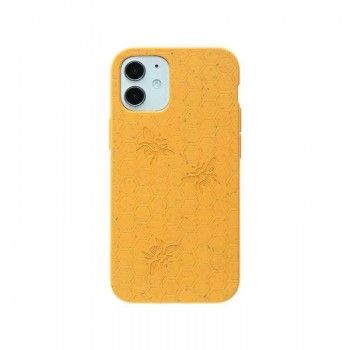 Capa para iPhone 12 mini PELA Eco Case Bee Edition Yellow