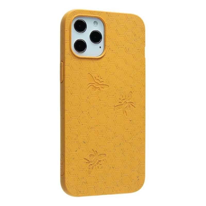 Capa para iPhone 12 Pro Max PELA Eco Case Bee Edition Yellow