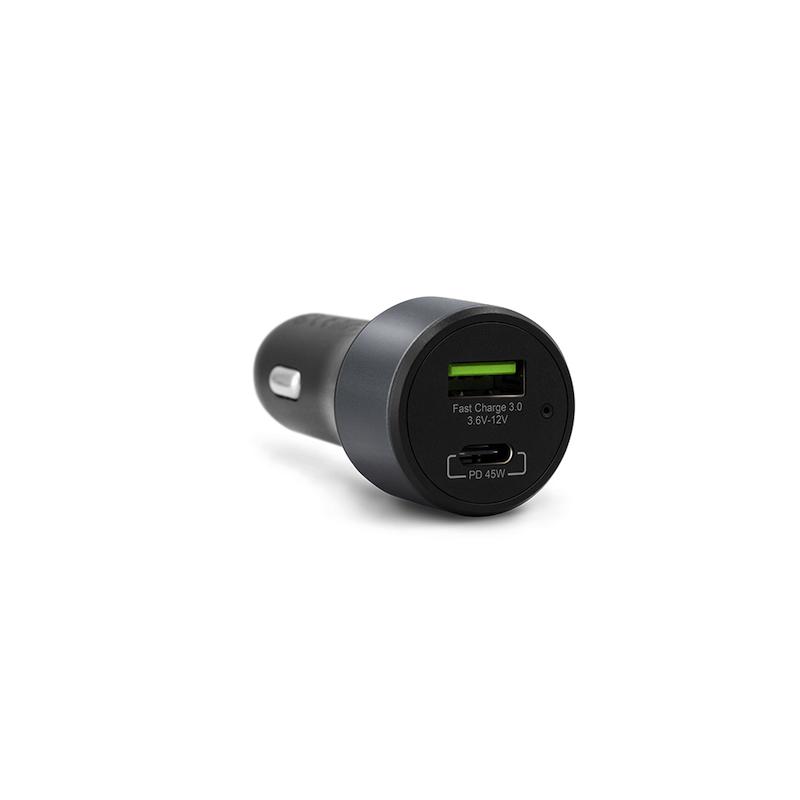Carregador de Carro EPICO USB-A e USB-C 45W Space Gray
