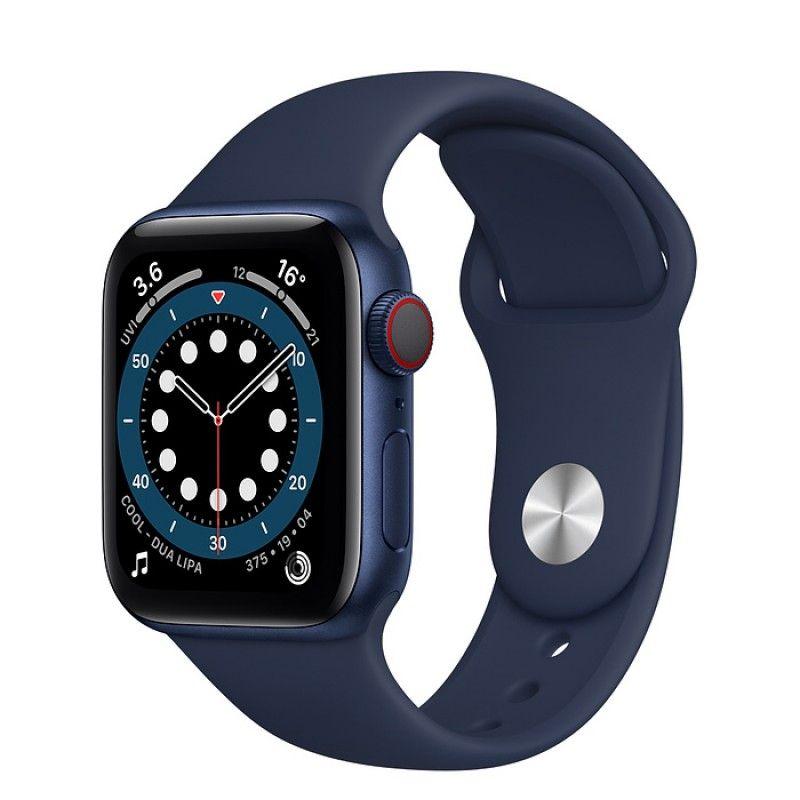 Apple Watch 6, GPS+Cellular 40 mm - Azul, bracelete desportiva Deep Navy