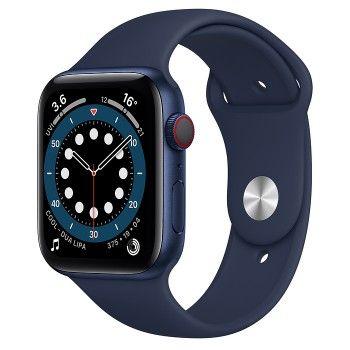 Apple Watch 6, GPS+Cellular 44 mm - Azul, bracelete desportiva Deep Navy