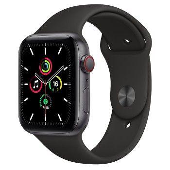 Apple Watch SE, GPS+Cellular 44 mm - Cinzento sideral, bracelete desportiva preta