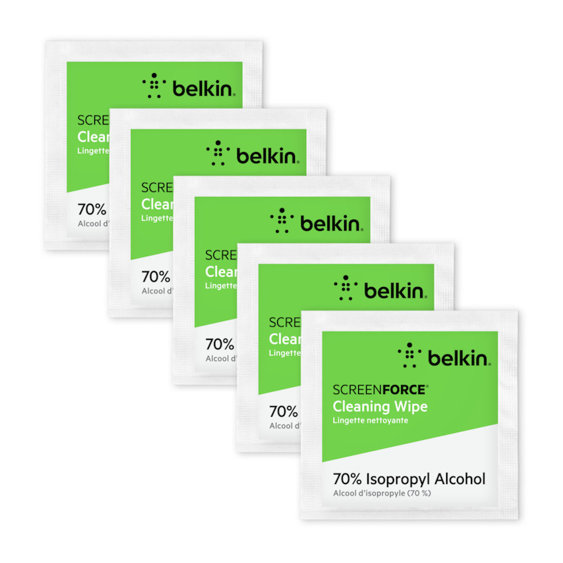 Toalhitas de Limpeza Desinfectantes Belkin ScreenForce pack 75 uni