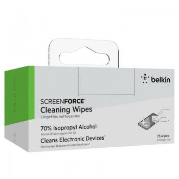 Toalhitas de Limpeza Desinfectantes Belkin ScreenForce pack 75 uni