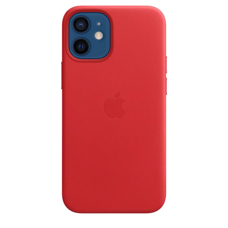 Capa em pele com MagSafe para iPhone 12 mini - Vermelha (PRODUCT)RED