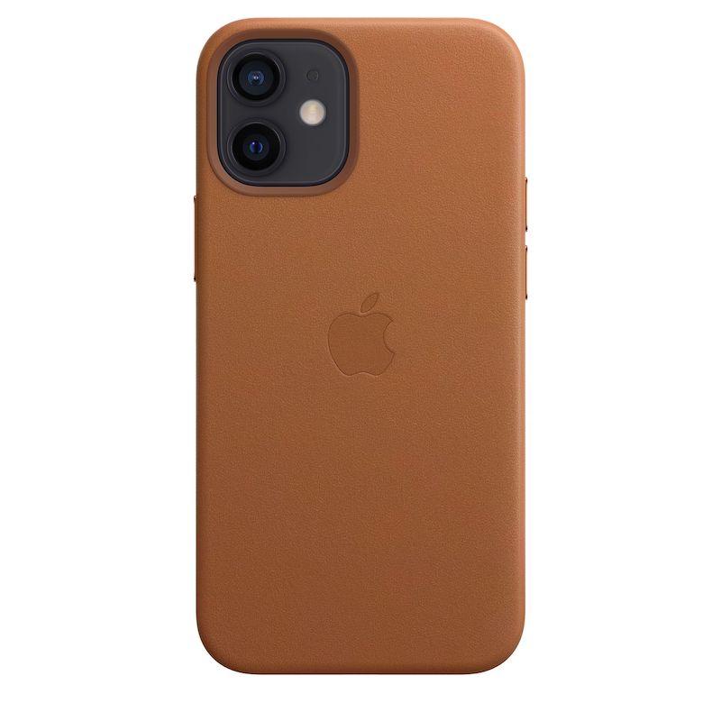 Capa em pele com MagSafe para iPhone 12 mini - Castanho sela