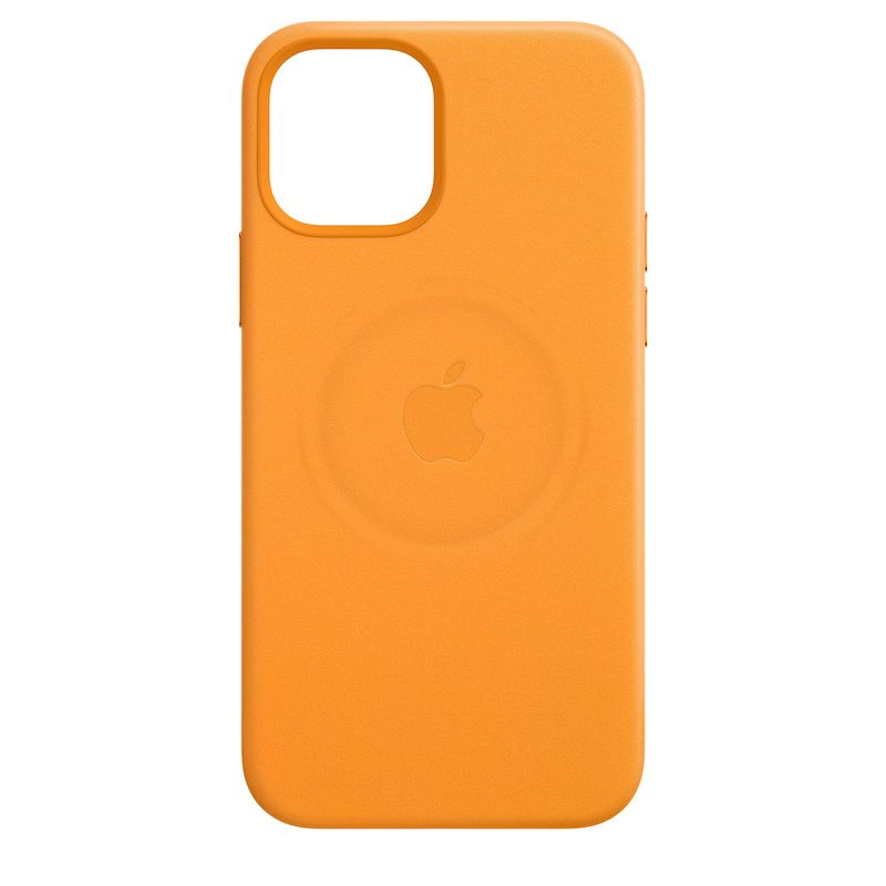 Capa em pele com MagSafe para iPhone 12 mini - Laranja Califórnia