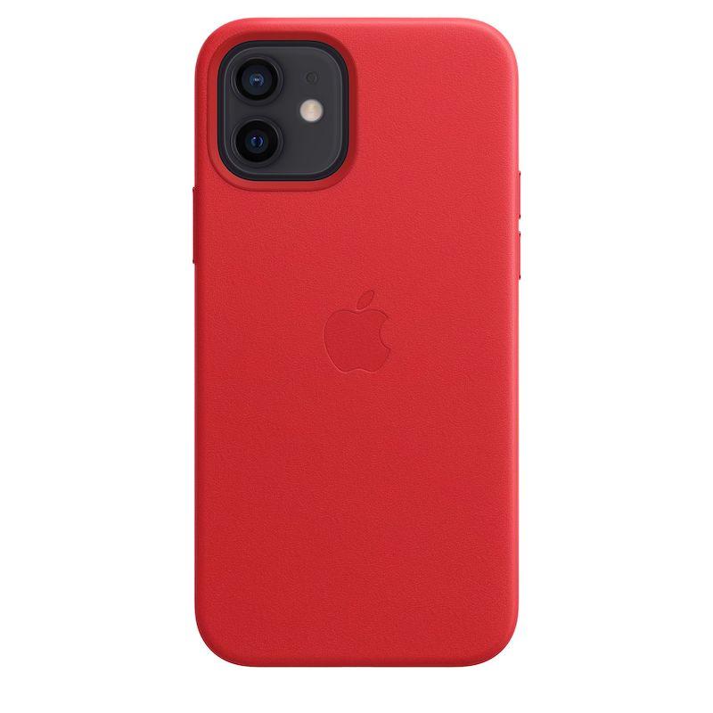 Capa em pele com MagSafe para iPhone 12 /  12 Pro - Vermelha (PRODUCT)RED