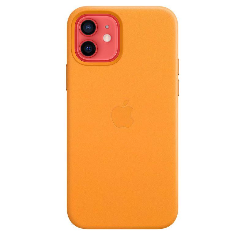Capa em pele com MagSafe para iPhone 12 /  12 Pro - Laranja Califórnia