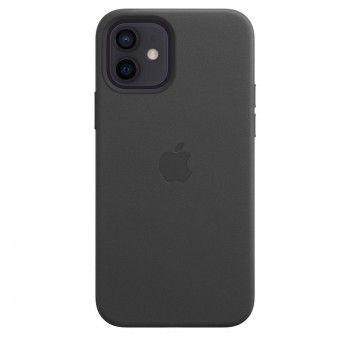 Capa em pele com MagSafe para iPhone 12 /  12 Pro - Preto