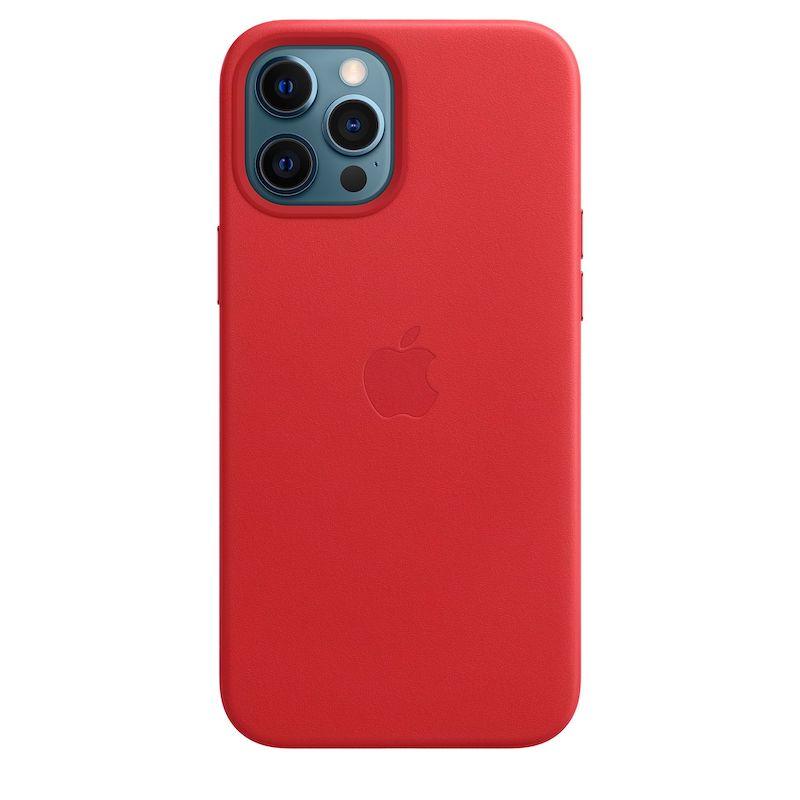 Capa em pele com MagSafe para iPhone 12 Pro Max - Vermelha (PRODUCT)RED
