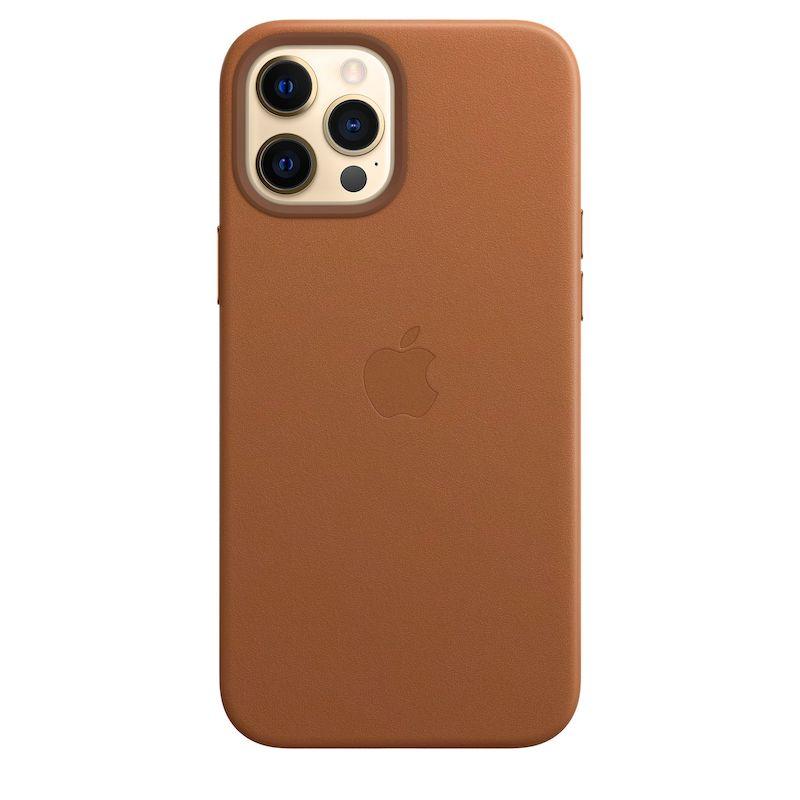 Capa em pele com MagSafe para iPhone 12 Pro Max - Castanho Sela