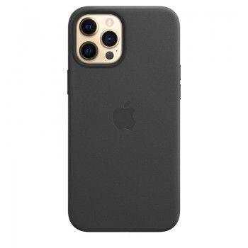 Capa em pele com MagSafe para iPhone 12 Pro Max - Preto