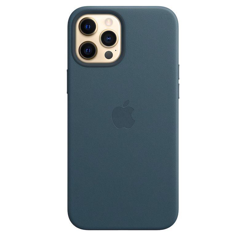 Capa em pele com MagSafe para iPhone 12 Pro Max - Azul báltico