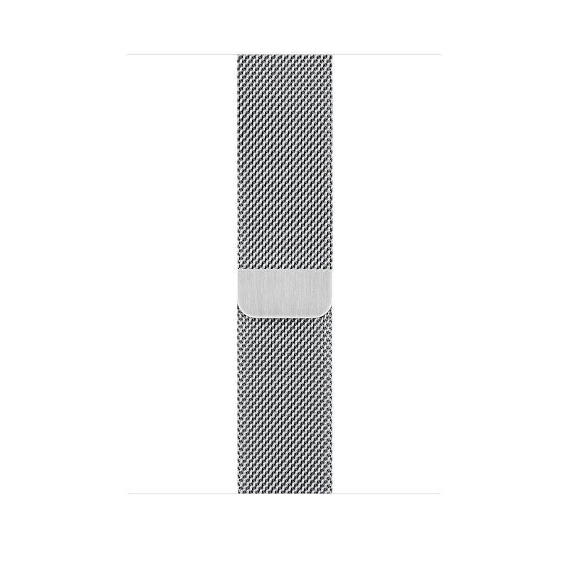 Bracelete para Apple Watch Milanesa em metal (44/42 mm) - Prateado