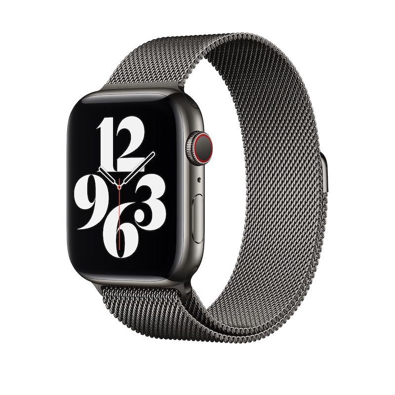 Bracelete para Apple Watch Milanesa em metal 42 a 45 mm - Grafite
