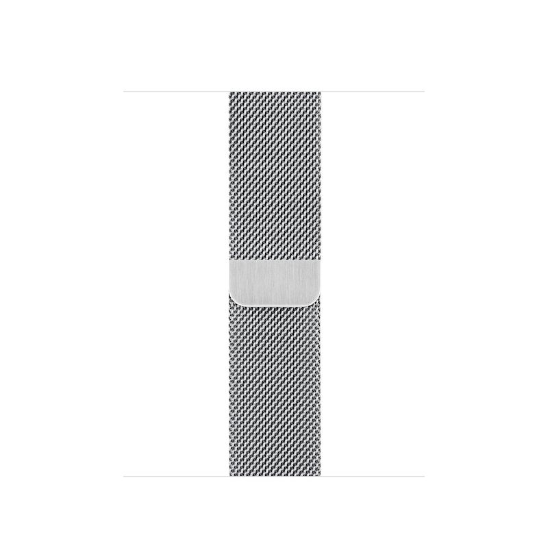 Bracelete para Apple Watch Milanesa em metal (40/38 mm) - Prateado
