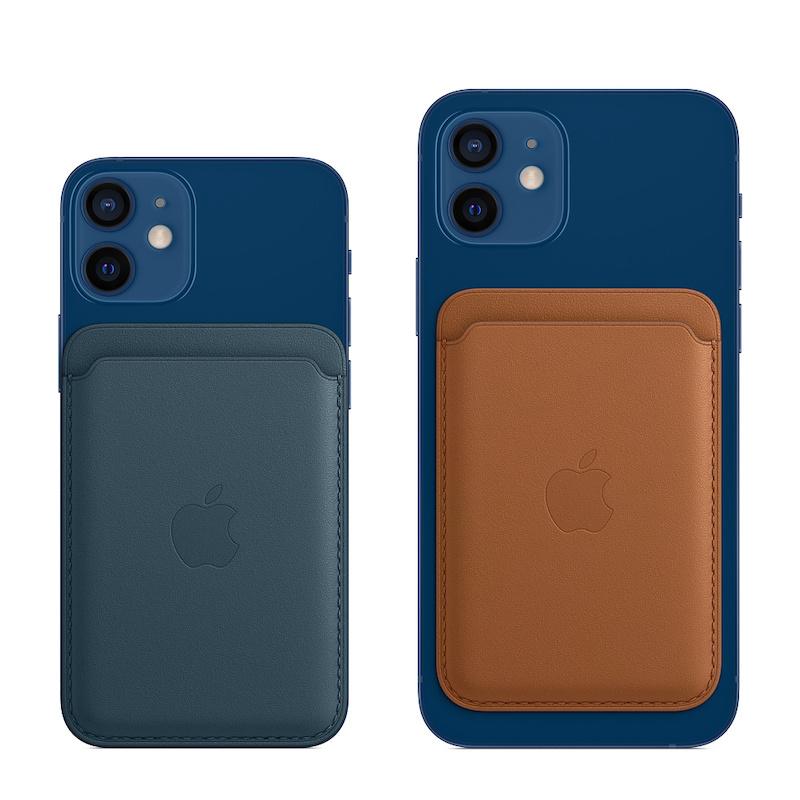 Carteira em pele com MagSafe para iPhone - Azul Báltico