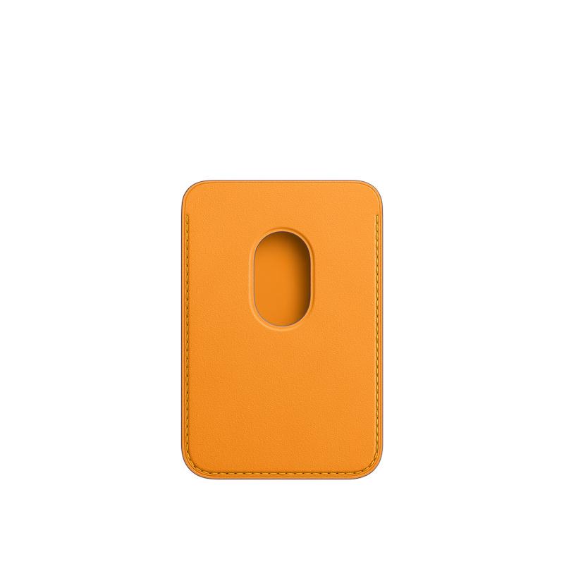 Carteira em pele com MagSafe para iPhone - Laranja Califórnia