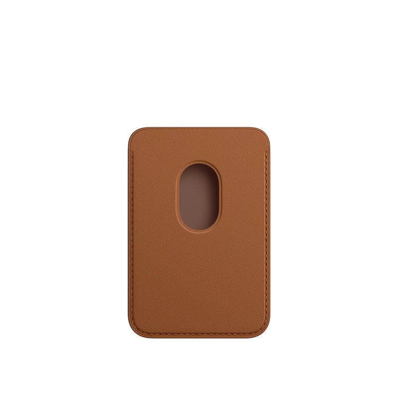 Carteira em pele com MagSafe para iPhone - Castanho sela