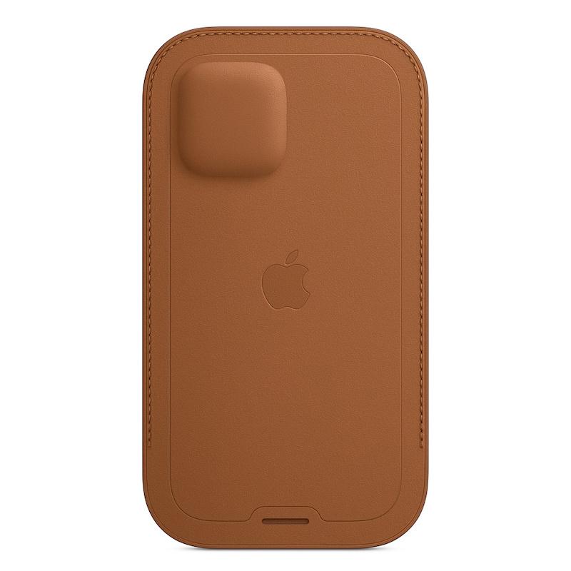 Bolsa em pele com MagSafe para iPhone 12|12 Pro - Castanho sela