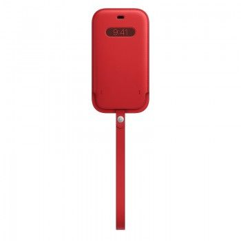 Bolsa em pele com MagSafe para iPhone 12|12 Pro - Vermelho (PRODUCT)RED
