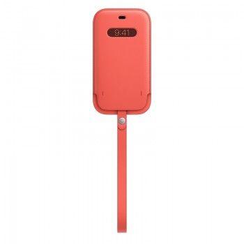 Bolsa em pele com MagSafe para iPhone 12 12 Pro - Rosa cítrico