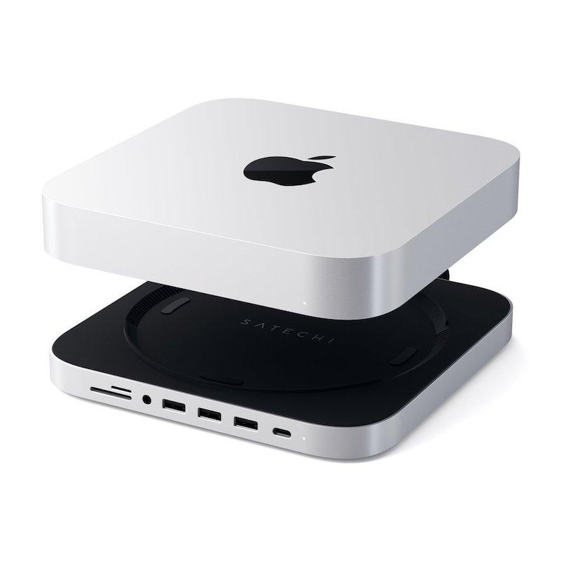 Stand com HUB Type-C para Mac Mini Aluminum Silver