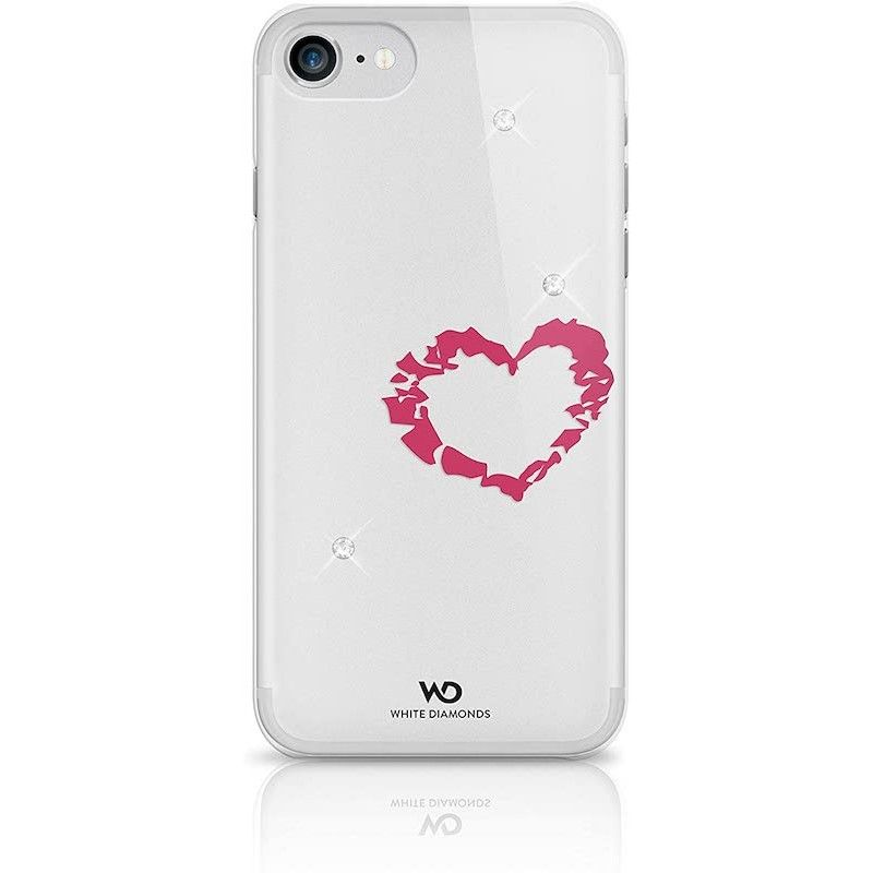 Capa White Diamonds Lipstick Heart Crystal para iPhone 7/8/SE (2020)