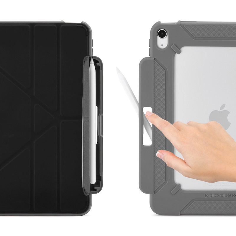 Capa para iPad Air 4 10.9 Pipetto Origami Pencil Shield No2 Preto