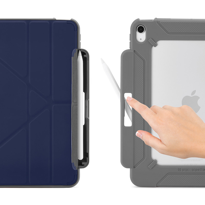 Capa para iPad Air 4 10.9 Pipetto Origami Pencil Shield No2 Azul Escuro