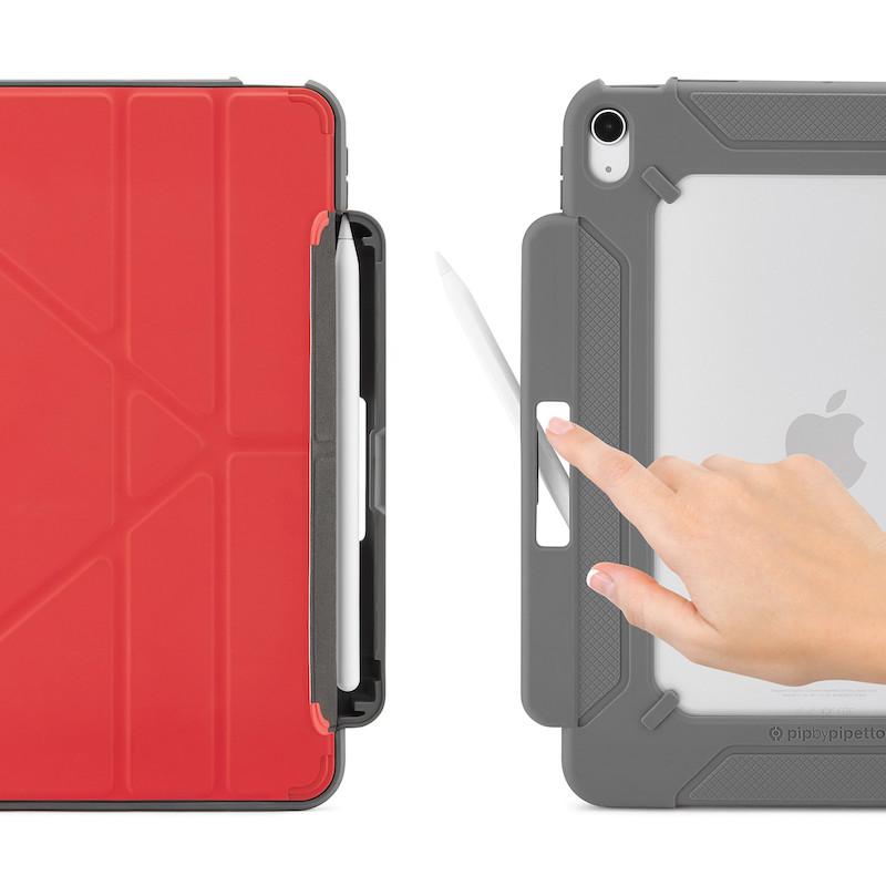 Capa para iPad Air 4 10.9 Pipetto Origami Pencil Shield No2 Red