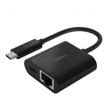 Adaptador Belkin USB-C para Ethernet + Charge PD 60W