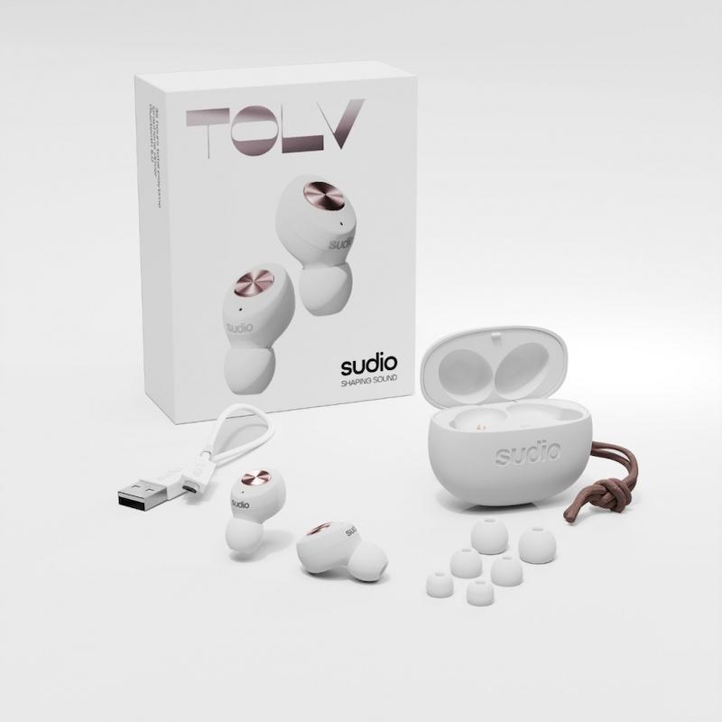 Auriculares True Wireless Sudio Tolv Branco
