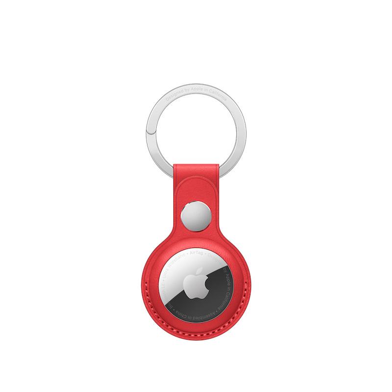 Porta-chaves em pele para AirTag - Vermelho (PRODUCT(RED)