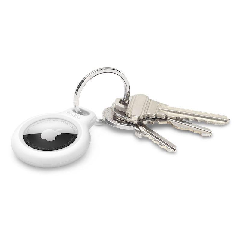 Suporte Belkin para AirTag com porta-chaves Branco