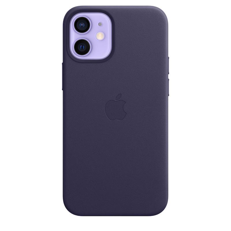 Capa em pele com MagSafe para iPhone 12 mini - Violeta profundo