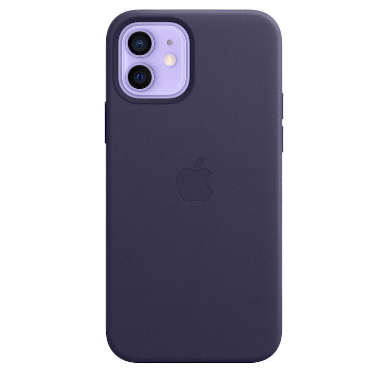 Capa em pele com MagSafe para iPhone 12 /  12 Pro - Violeta proundo