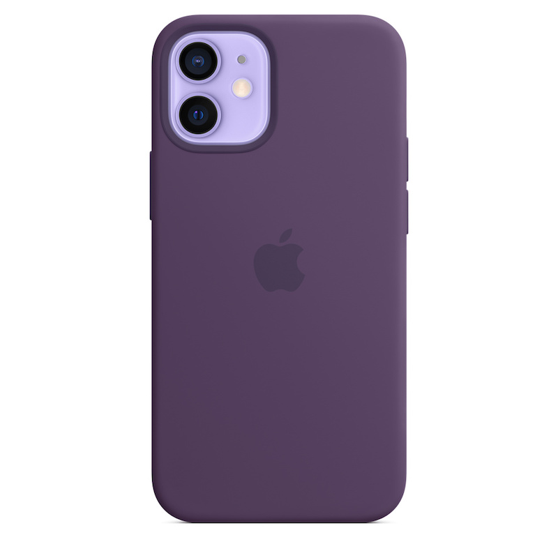 Capa para iPhone 12 mini em silicone com MagSafe - Ametista