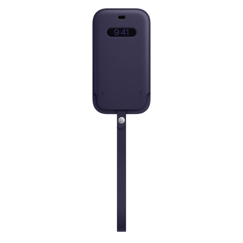 Bolsa em pele com MagSafe para iPhone 12|12 Pro - Violeta profundo