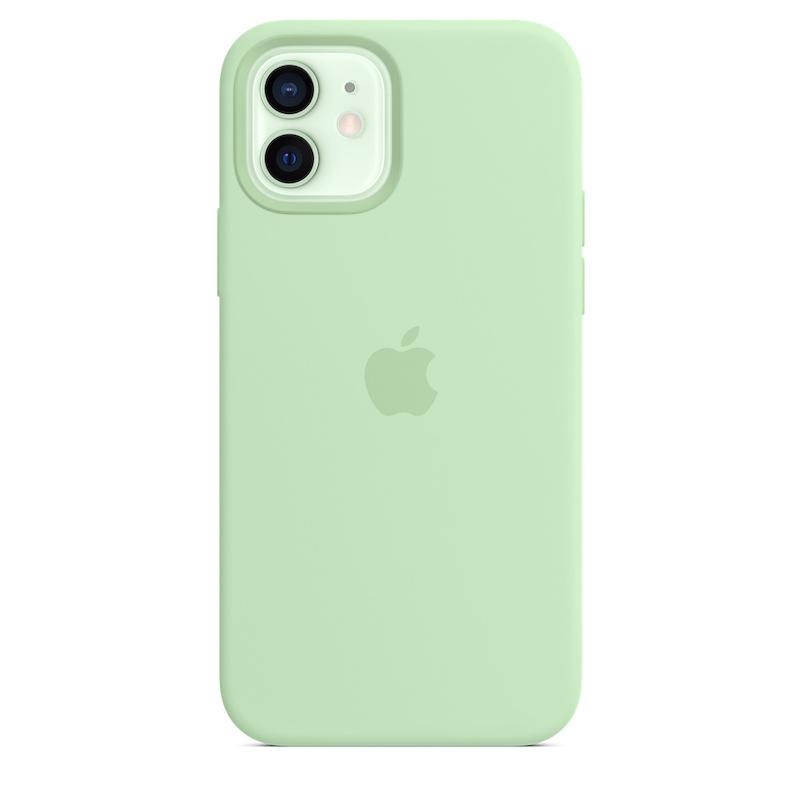 Capa para iPhone 12 | 12 Pro em silicone com MagSafe - Pistáchio