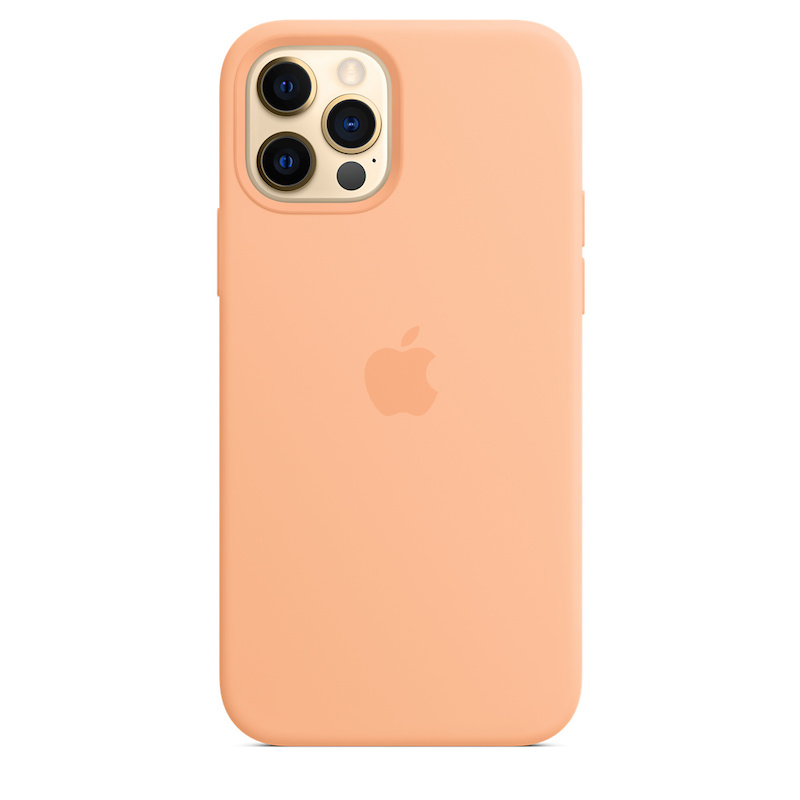 Capa para iPhone 12 | 12 Pro em silicone com MagSafe - Cantaloupe