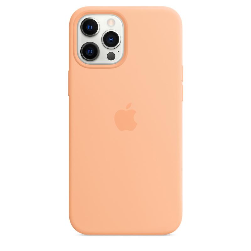 Capa para iPhone 12 Pro Max em silicone com MagSafe - Cantaloupe